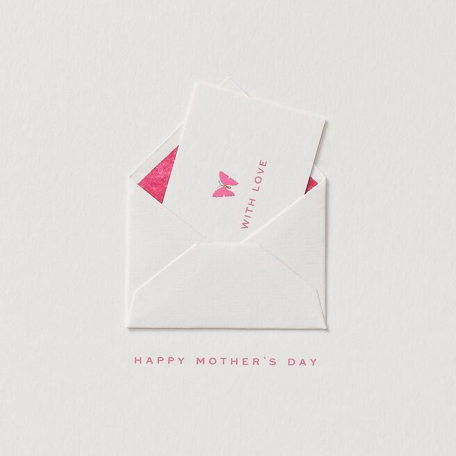 With Love Mother'S Day Card White