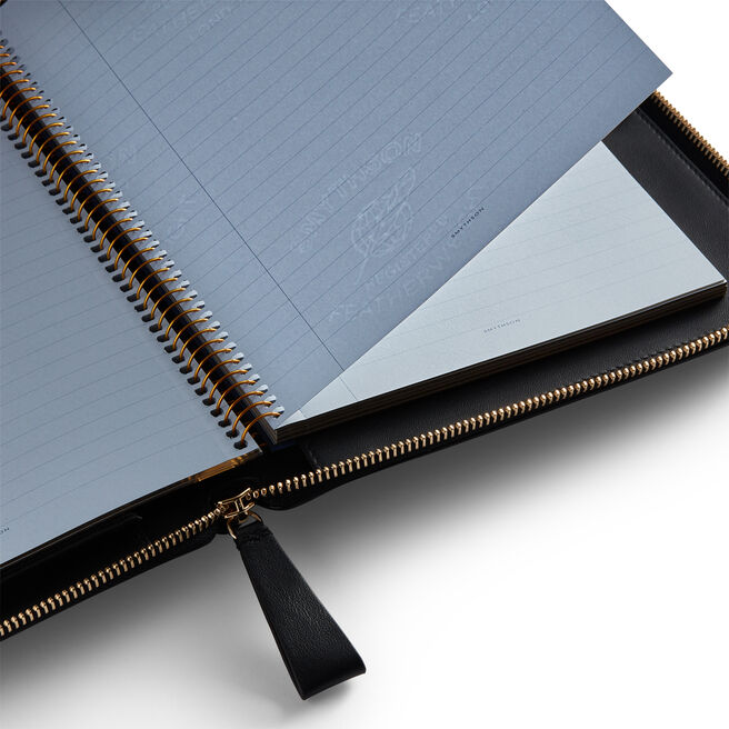 A5 Writing Folder in Smooth Leather