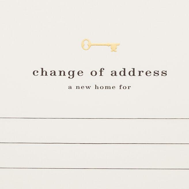 Change Of Address Cards White