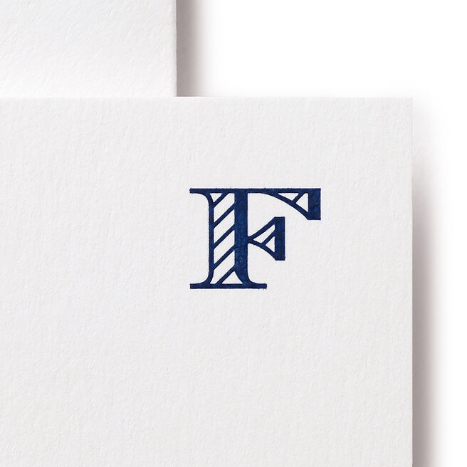 F Alphabet Cards White