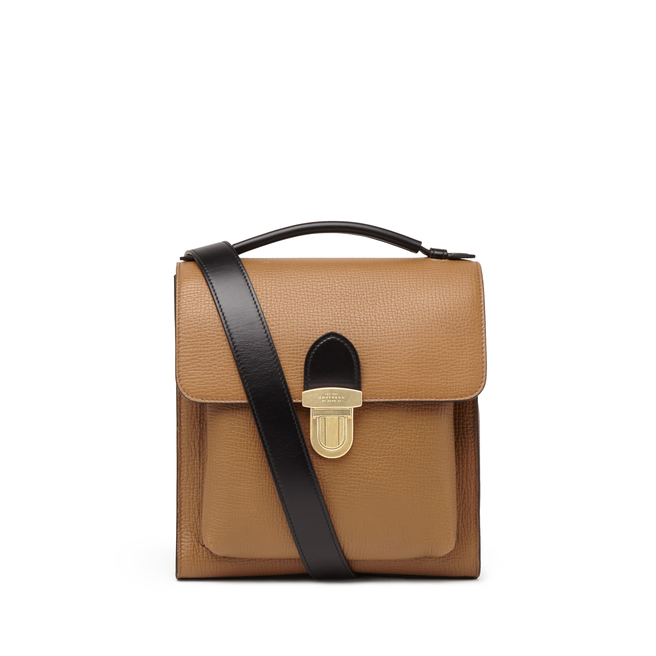 Satchel Reporter Bag in Large Grain Leather