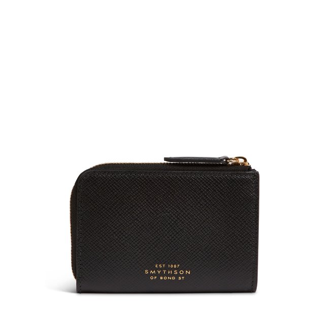Panama Envelope Card Case With Zip Pouch