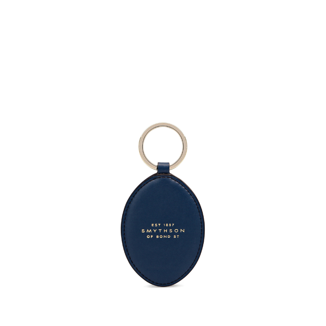 Printed Keyring in Smooth Leather