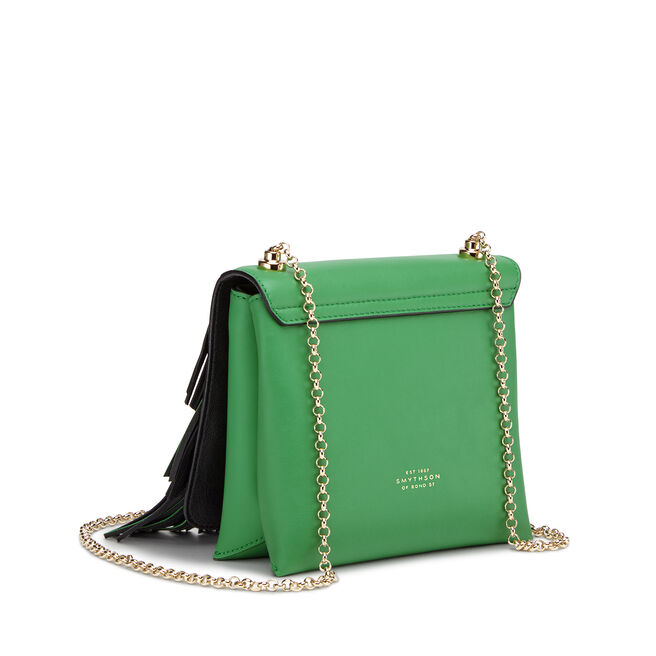 Feather Loop Chain Bag in Smooth Leather