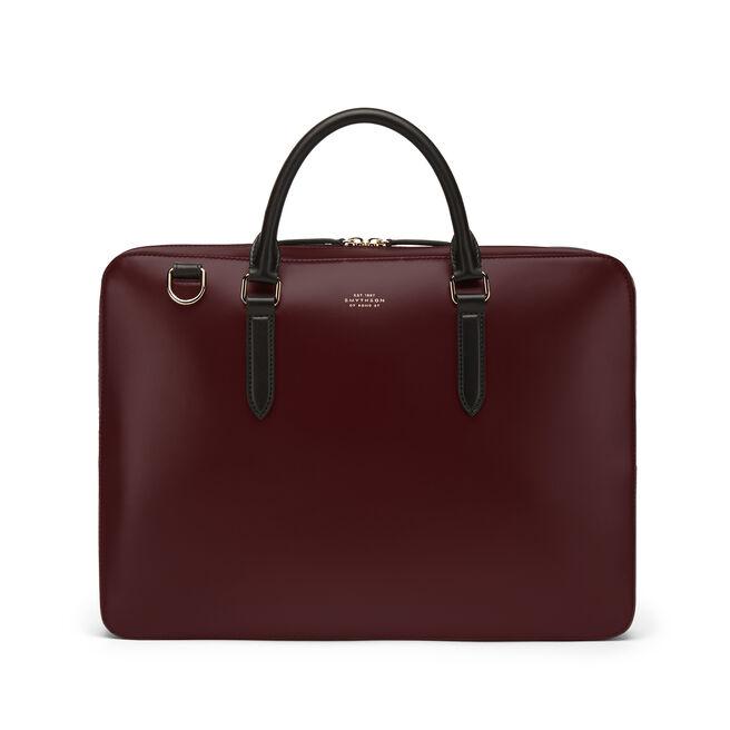 Slim Briefcase in Box Calf Leather