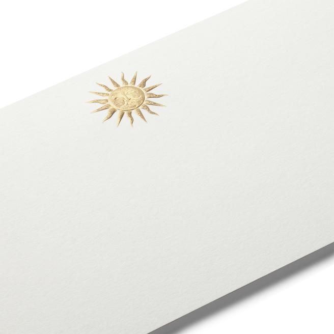 Sun Motif Correspondence Cards