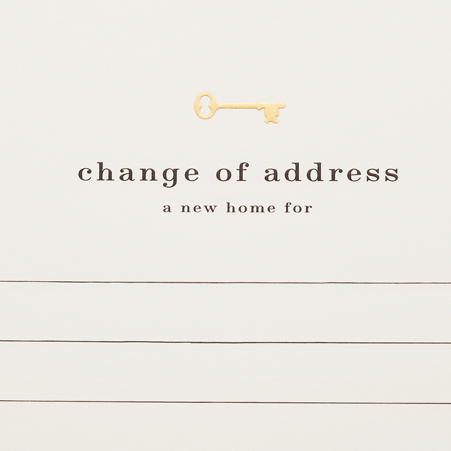 Change Of Address Cards White