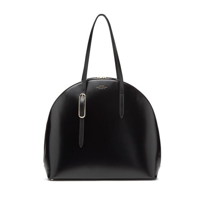 High Moon Shoulder Bag in Box Calf Leather