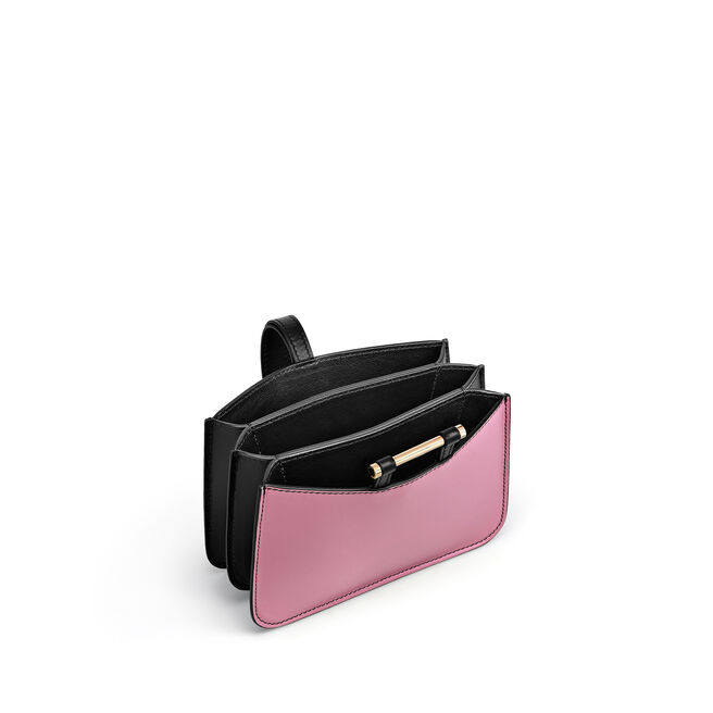 Mini Concertina Wristlet in Smooth Leather
