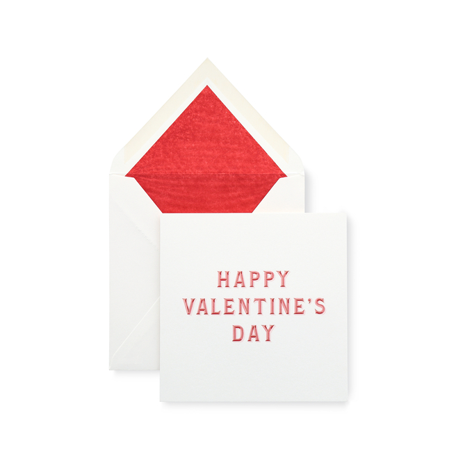 Typography Valentine's Day Card