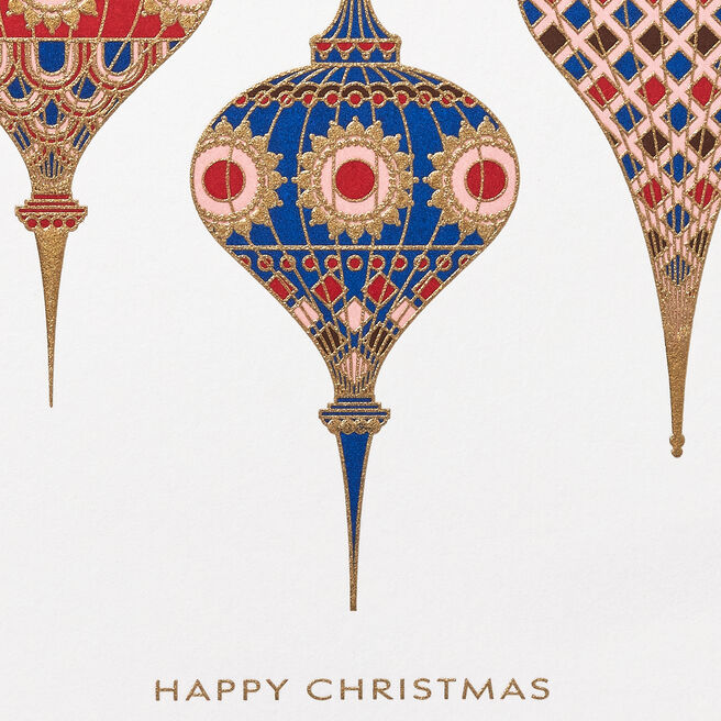 Imperial Baubles Christmas Cards White