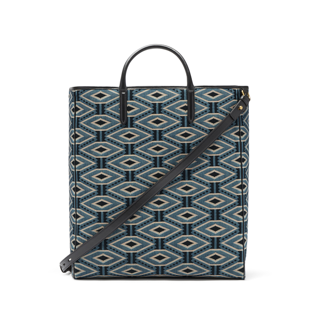 Lozenge Jacquard Shopper Bag