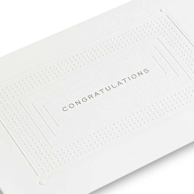 Congratulations Frame Embossed Card