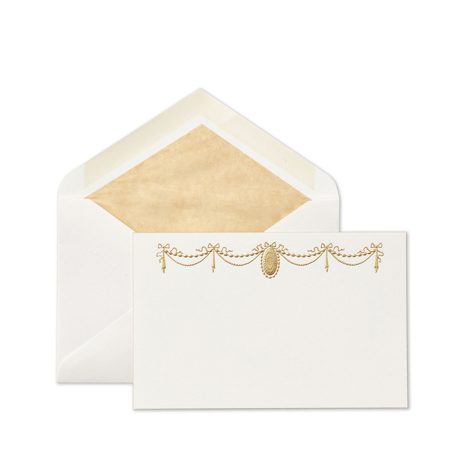 Stucco Ribbon Correspondence Cards