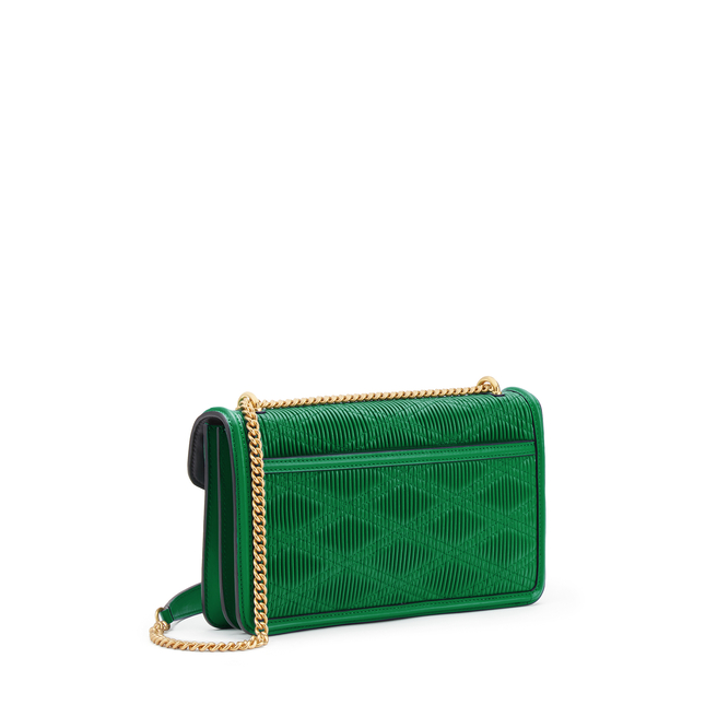 Quilted Plisse Envelope Chain Shoulder Bag