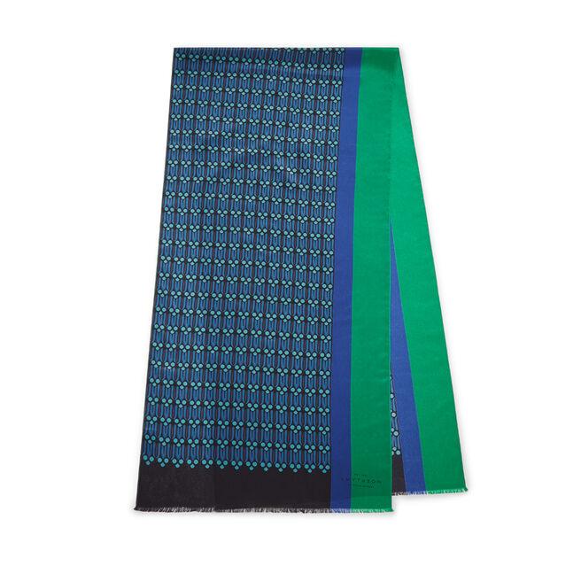 Leaf Print Silk Muffler Scarf