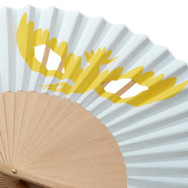 Bird Print Hand Fan
