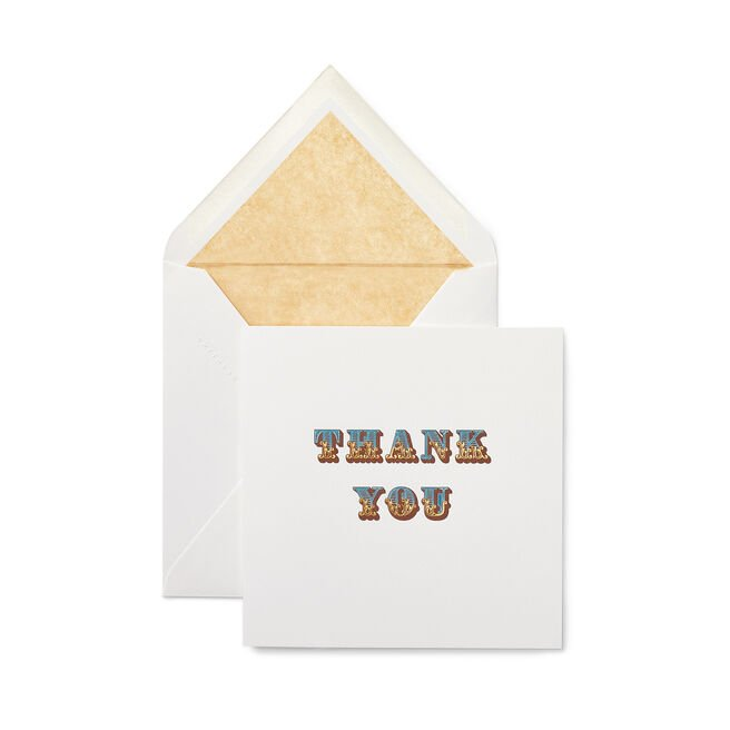 Circus Thank You Card White