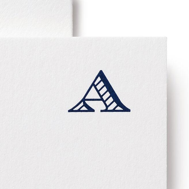 A Alphabet Cards White