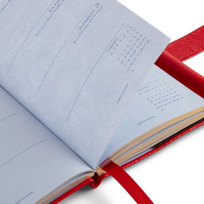 2022 Wafer Agenda with Gilt Pencil