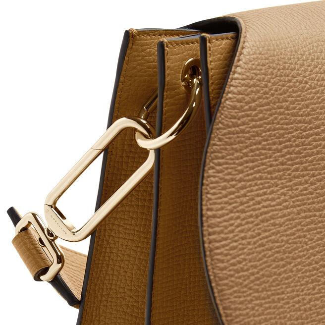 Concertina Shoulder Bag in Large Grain Leather