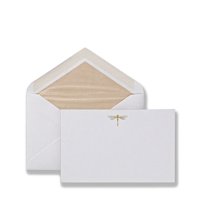 Dragonfly Correspondence Cards Pale Blue