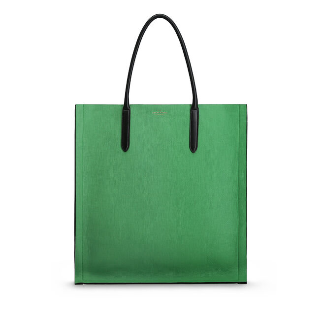 Maxi Paper Edge Tote in Crossgrain Leather