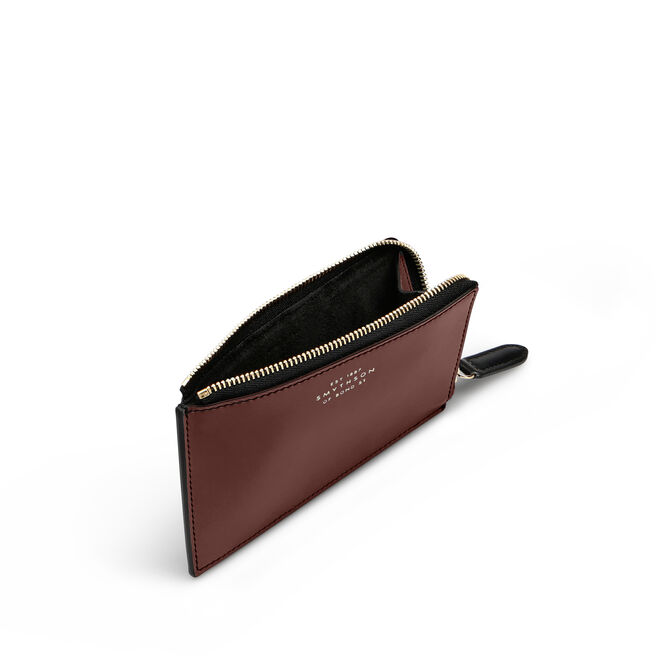 Flat Coin Purse in Smooth Leather