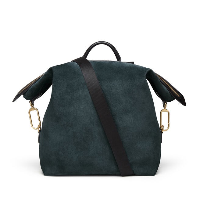 Large Clip Down Rucksack in Suede