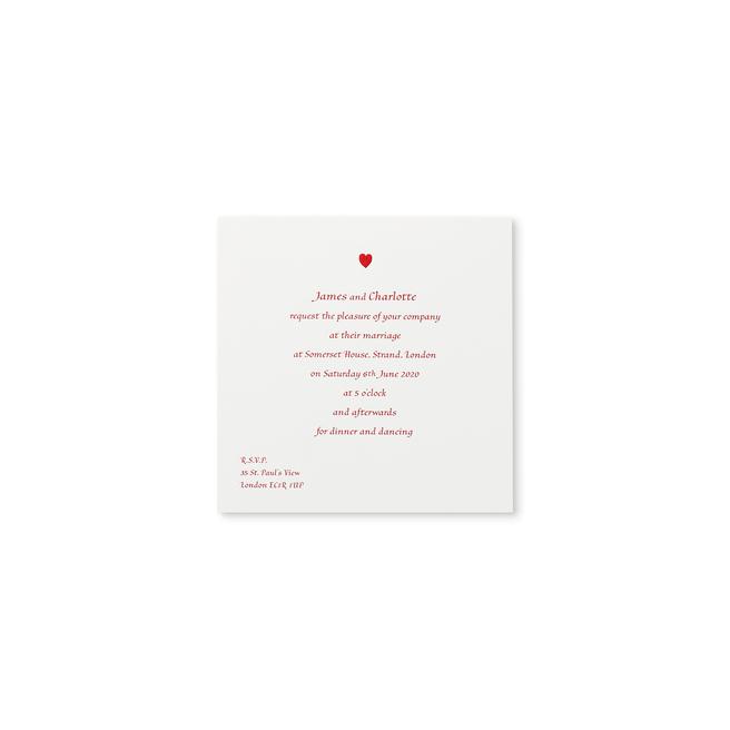 Quadratische Hochzeitseinladung