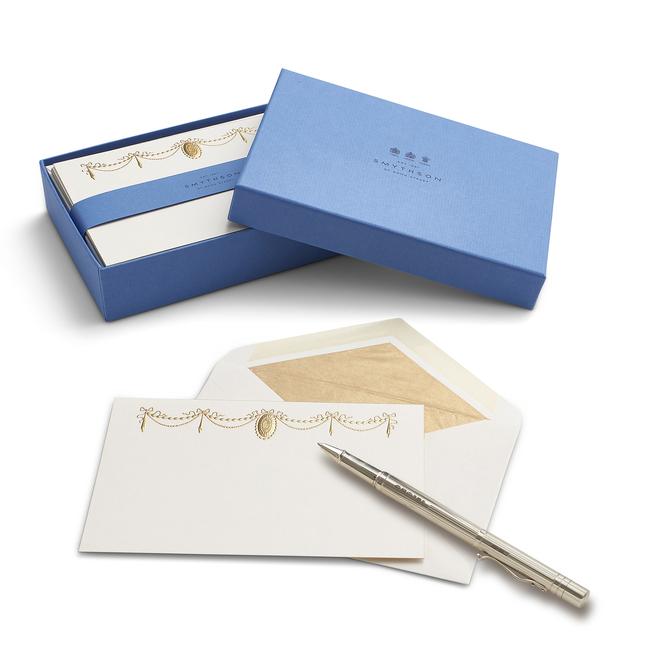 Stucco Ribbon Correspondence Cards