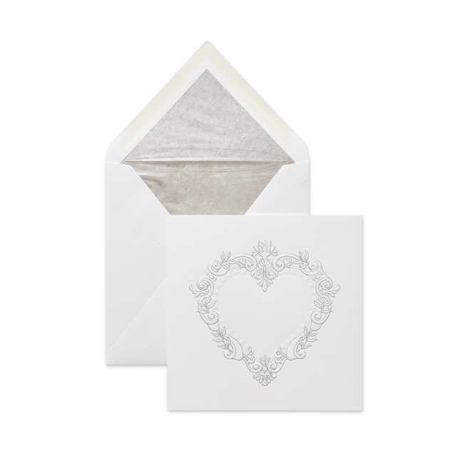 Stucco Heart Valentine's Card