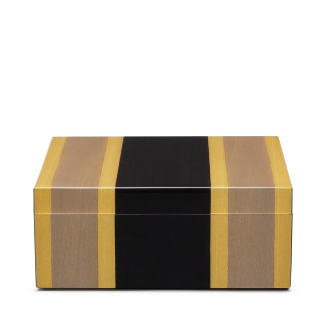 Boîte vide-poches carrée en marqueterie