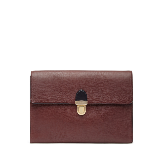 Satchel Folio in Large Grain Leather