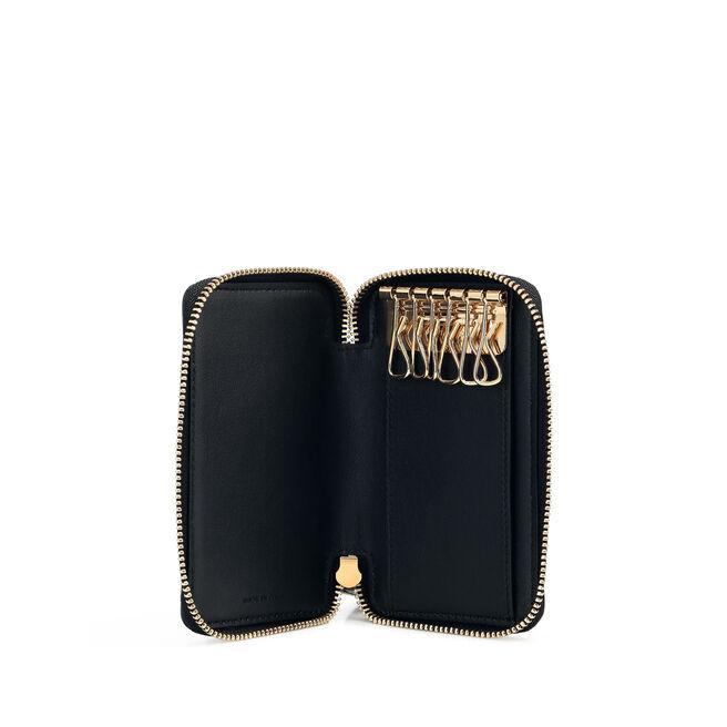 Zip Around Key Holder in Smooth Leather