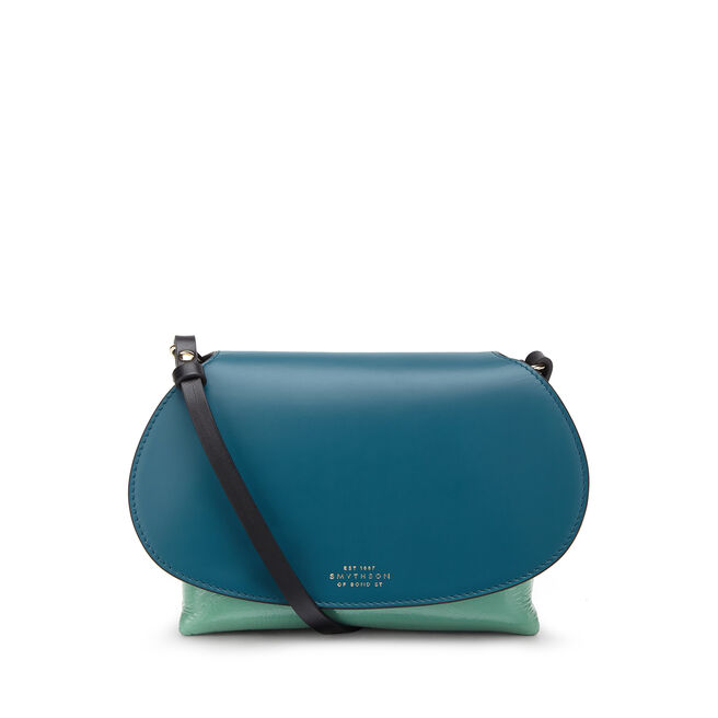Pillow Crossbody Bag in Crinkled Patent Leather