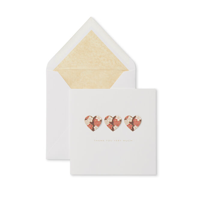 Floral Hearts Thank You Card