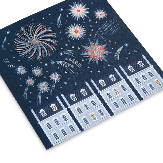 Fireworks Christmas Card