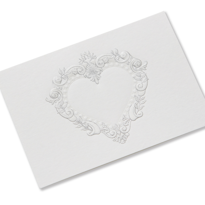 Stucco Heart Small Valentine's Card