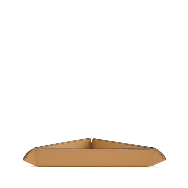 Small Trinket Tray in Smooth Leather