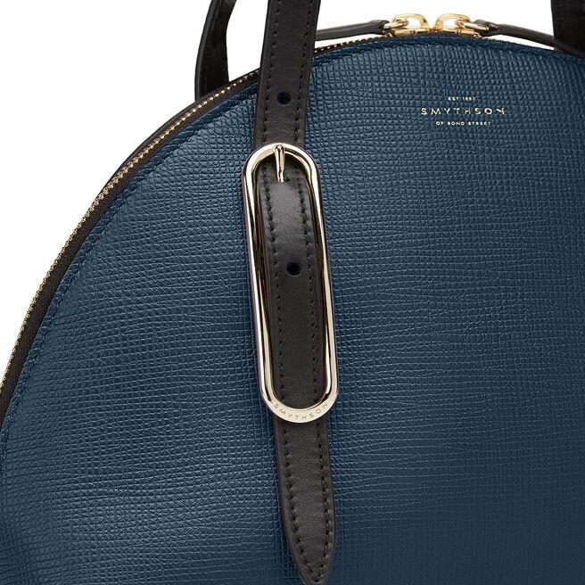 1/2 Moon Shoulder Bag in Crossgrain Leather