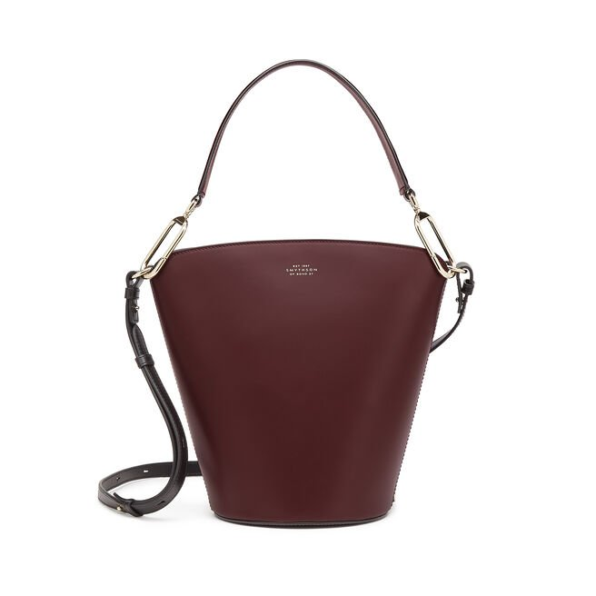 Equestrian Bucket Bag in Saddle Leather