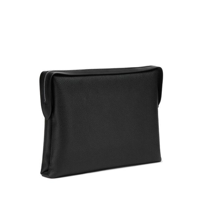 Zip Guard Folio in Large Grain Leather