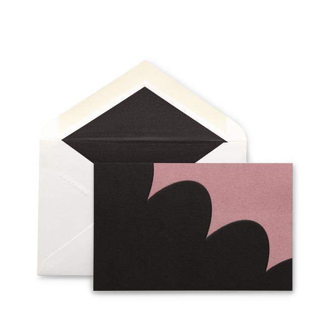 Geo Print Giant Scallop Correspondence Cards