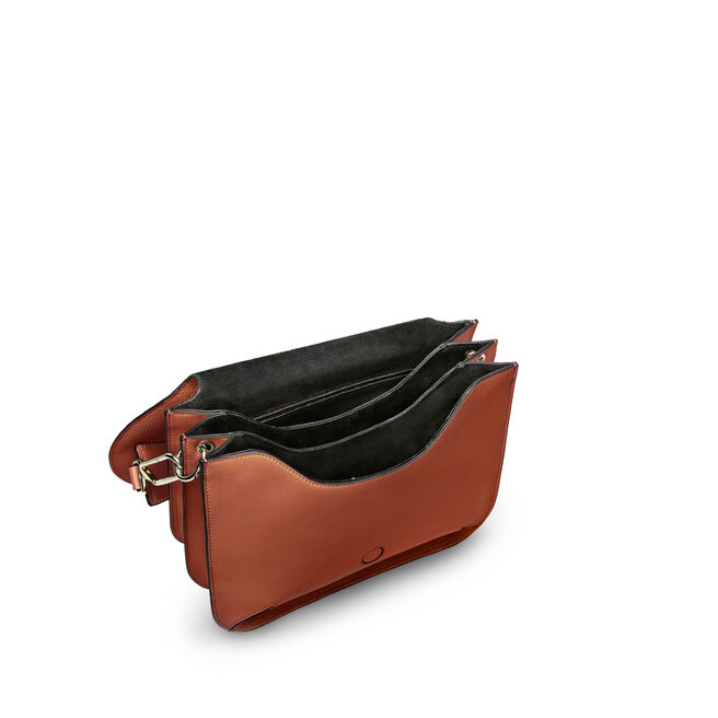 Concertina Top Handle Bag in Large Grain Leather
