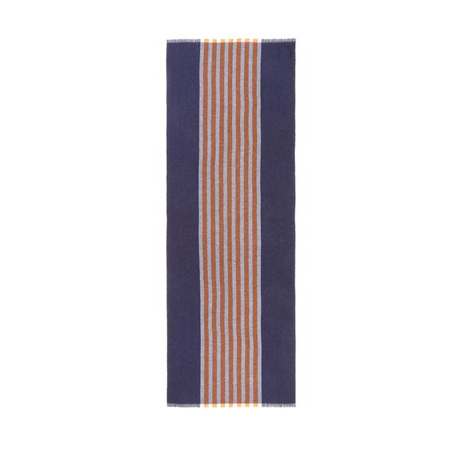 Stripe Cashmere Muffler Scarf