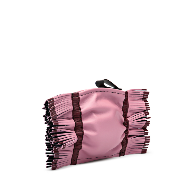 Feather Zip Purse in Smooth Leather