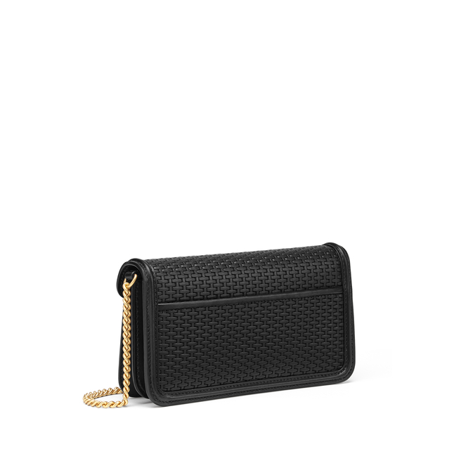 Basketweave Small Envelope Chain Shoulder Bag