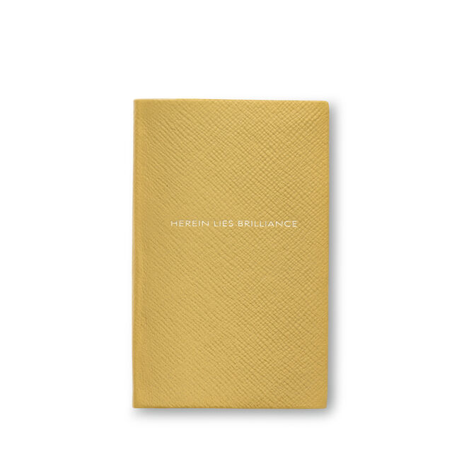 Herein Lies Brilliance Panama Notebook