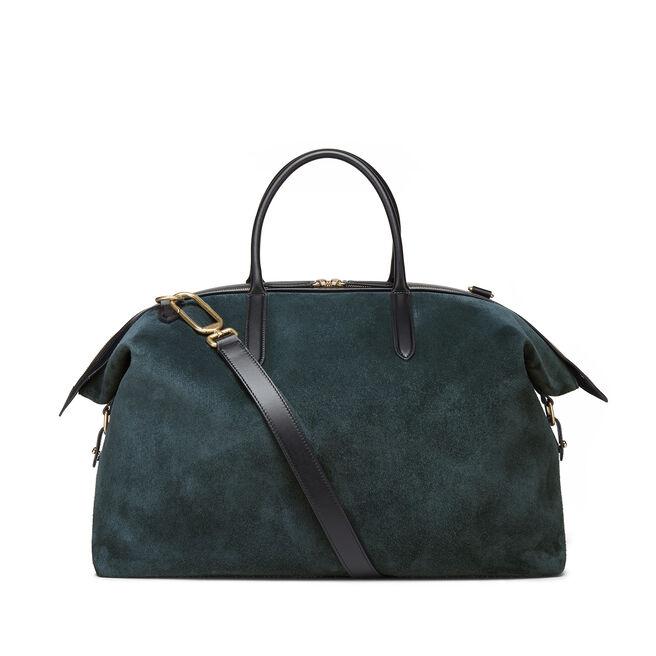 Zip Guard Travel Bag in Suede